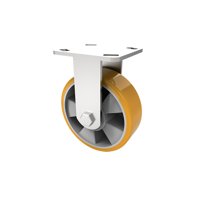 Comfort Castors Fabricated-Heavy-Duty-Al-PU-Castor-U%20Fx Fabricated Heavy Duty Al-PU Castor (HEAVY DUTY FABRICATED CASTOR)