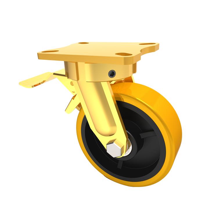 Comfort Castors Forge-Master-CI-PU-Brake Forge Master CI PU (FORGE MASTER CASTOR)