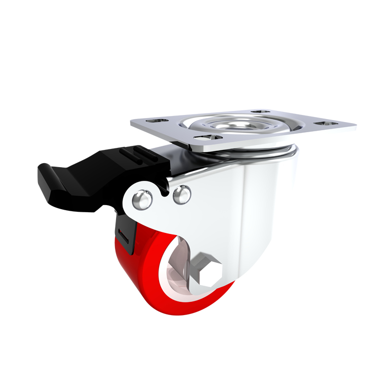 Comfort Castors Light-Duty-PU-Castor-Brake Light Duty PU Castor (LIGHT DUTY CASTOR)