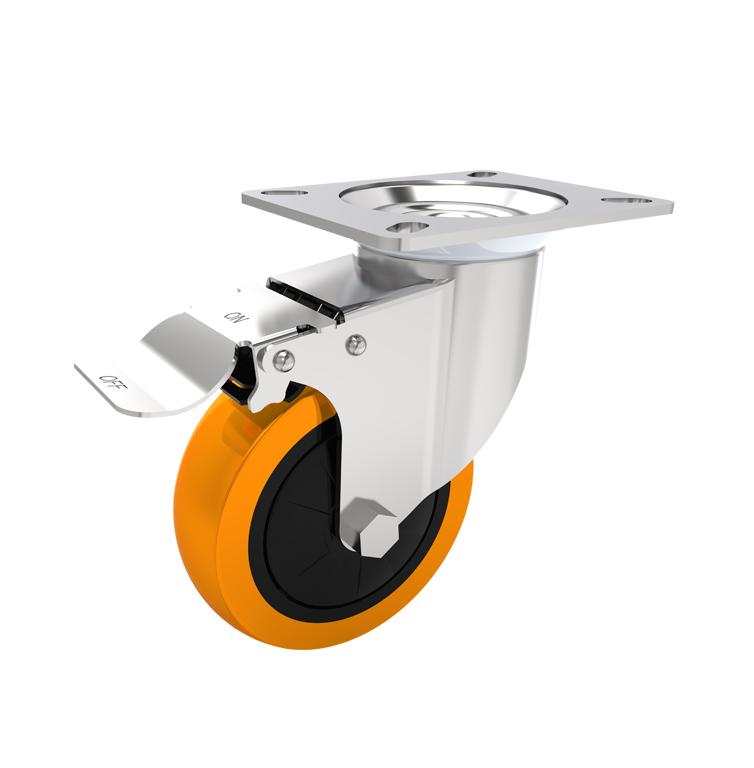 Comfort Castors Medium-Duty-PU-Castor-Brake Medium Duty PU Castor (MEDIUM DUTY CASTOR)