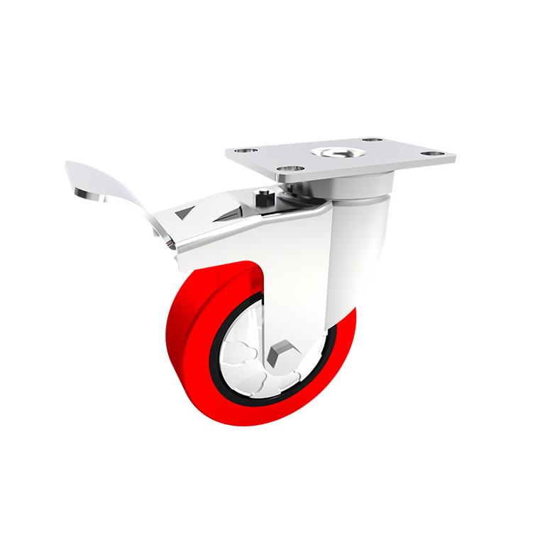 Comfort Castors STAINLESS-STEEL-304-PU-castor-Brake Stainless Steel 304 PU Castor (SPECIALISED CASTOR)