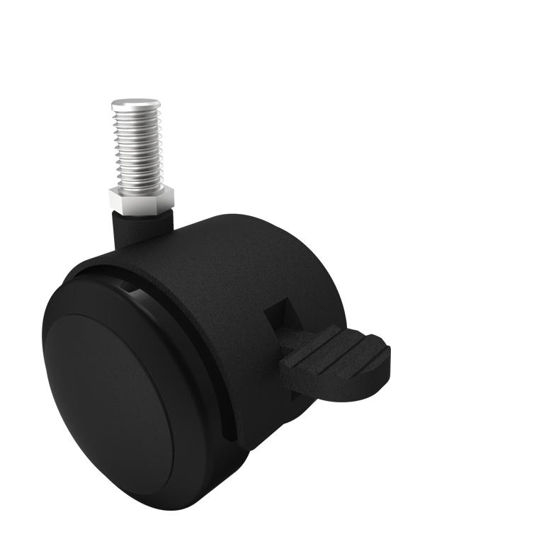 Comfort Castors Twin-Wheel-Castor-thread-brake Twin Wheel Castor (SPECIALISED CASTOR)