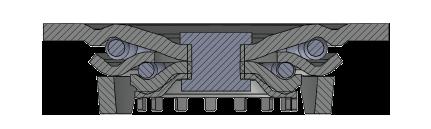 Comfort Castors ccf33a7a11ed4a5fbf9fd92bc5dcaa04 Fabricated Heavy Duty CI PU Castor (HEAVY DUTY FABRICATED CASTOR)
